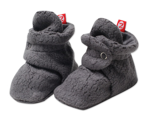 Zutano Newborn Cozie Booties Gray