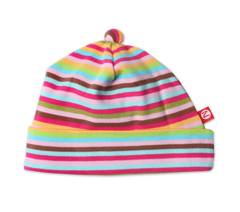 Zutano Newborn Hat Super Stripe
