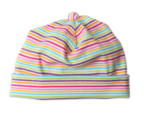 Zutano Newborn Hat Rainbow Candy Stripe