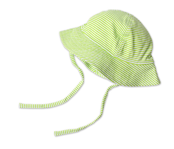 Zutano Baby Sun Hat Lime Candy Stripe