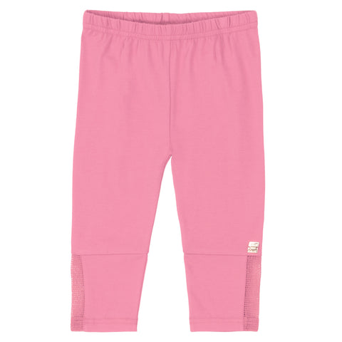 Deux Par Deux Light Pink Legging Capri With Mesh Insert