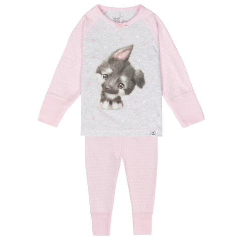 Deux Par Deux Glow In The Dark Cute Puppy Pajama