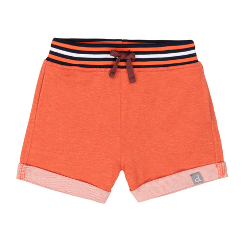 Deux Par Deux Orange French Terry Short