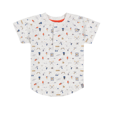 "Deux Par Deux Printed ""Paddle Out"" T-Shirt"
