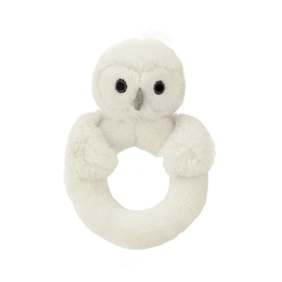 Little Jellycat Bashful Owl Ring Rattle 6