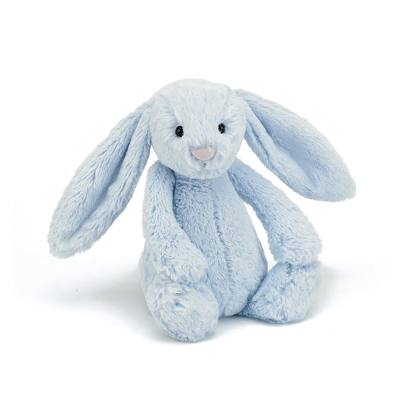 Little Jellycat Bashful Bunny Blue Medium 12