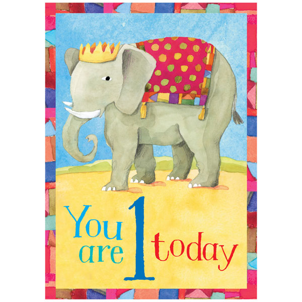 EeBoo Birthday Card Elephant 1