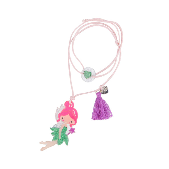 Lilies & Roses Necklace - Pink-Haired Fairy