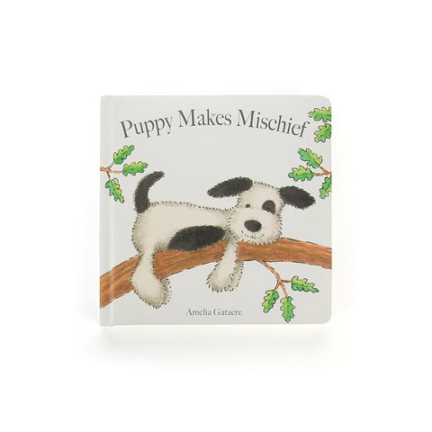 Jellycat Book Puppy Makes Mischief