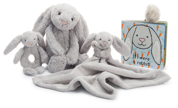 Jellycat Board Book If I Were a Rabbit Grey
