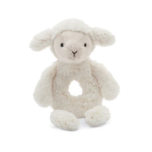Little Jellycat Bashful Lamb Ring Rattle 6