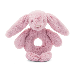 Little Jellycat Bashful Bunny Tulip Ring Rattle 6""