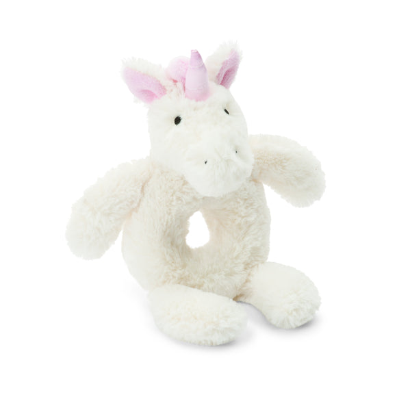Little Jellycat Bashful Unicorn Ring Rattle 6