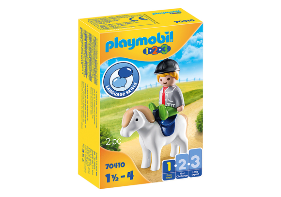 Playmobil 1.2.3 Boy with Pony