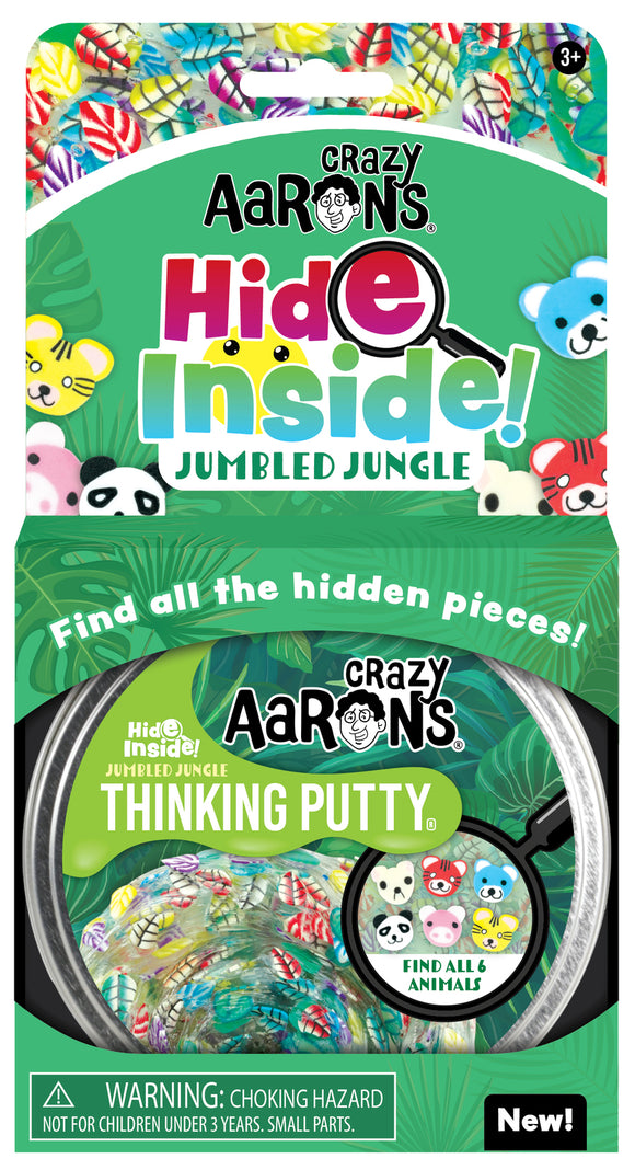 Crazy Aaron's Thinking Putty Hide Inside! Jumbled Jungle