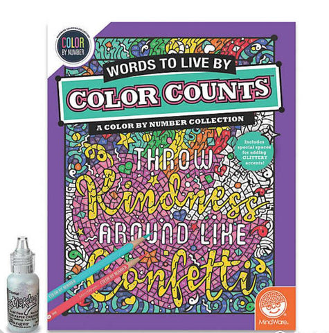 Color Counts Glitter - A Color By Number Collection