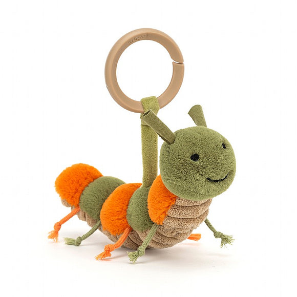 Little Jellycat Little Christopher Caterpillar Stroller Toy Rattle 6