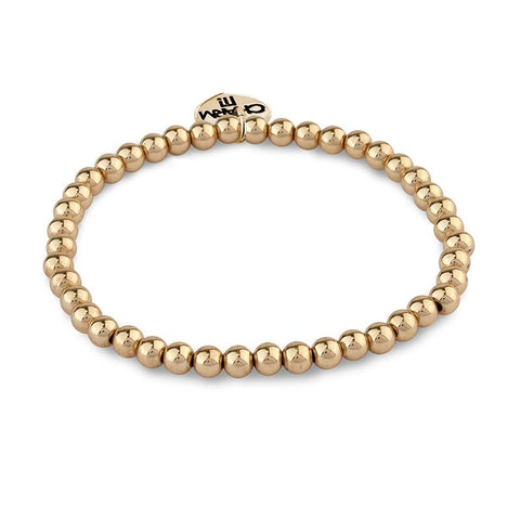 Charm It Bead Stretch Bracelet 4mm Gold