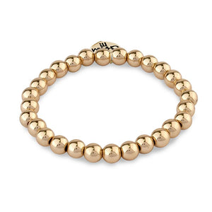Charm It Bead Stretch Bracelet 6mm Gold