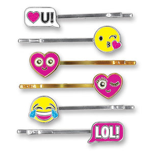 Charm It Bobby Pin Party Set Emoji