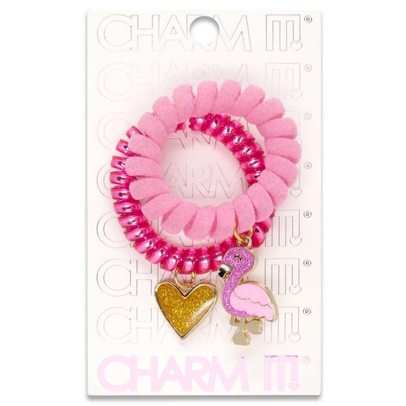 Charm It Coil Cord Set Flamingo
