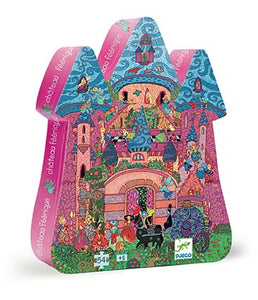 Djeco Silhouette 54 Piece Puzzle The Fairy Castle