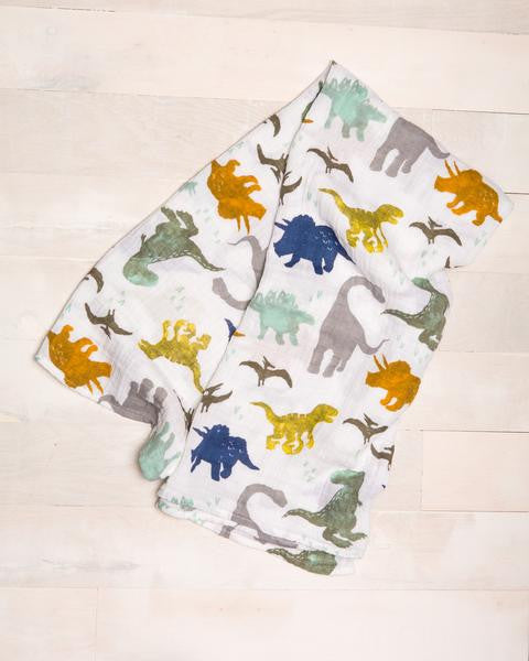 Little Unicorn Cotton Muslin Swaddle Dino Friends