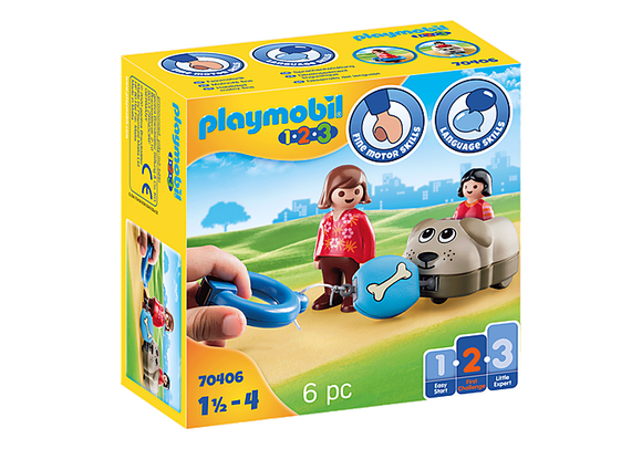 Playmobil 1.2.3 Dog Train Car