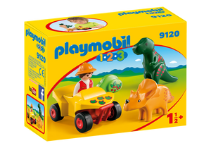Playmobil 1.2.3. Explorer With Dinos