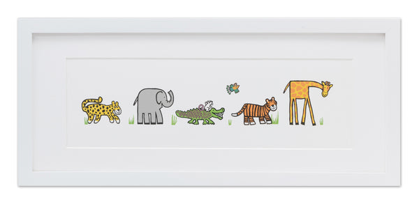 Jellycat Framed Print Jungly Tails
