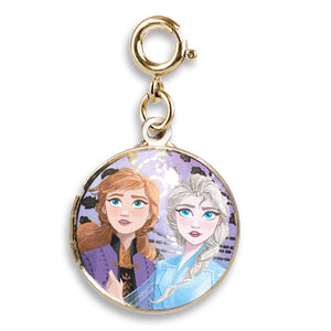 Charm It Disney Gold Elsa & Anna Locket