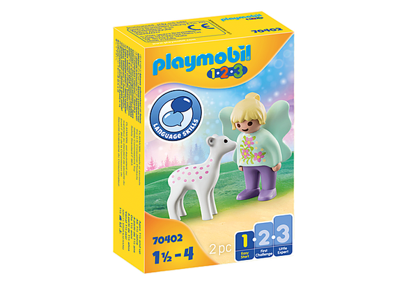 Playmobil 1.2.3 Fairy Friend with Fawn