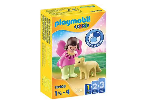Playmobil 1.2.3 Fairy Friend with Fox