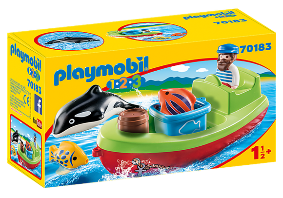 Playmobil 1.2.3 Fisherman with Boat