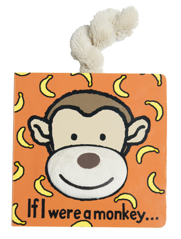 Jellycat Board Book If I Were a Monkey