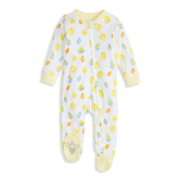 Burt's Bees Organic Baby One-Piece Sleep & Play Spring Chicks