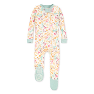 Burt's Bees Organic Baby One-Piece Sleeper Trail Treasures