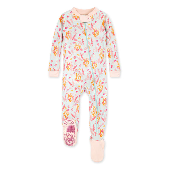 Burt's Bees Baby Organic Baby Zip Up Footed Pajamas Wyoming Wildflowers