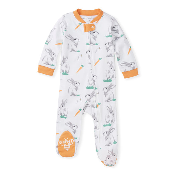 Burt's Bees Organic Baby One-Piece Sleep & Play Rabbit Habit