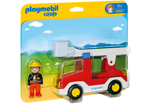 Playmobil 1.2.3 Ladder Unit Fire Truck