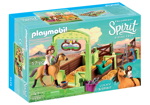 Playmobil Spirit Riding Free: Lucky & Spirit with Horse Stall