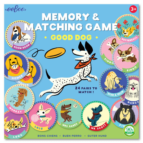 eeBoo Memory & Match Game - Good Dog