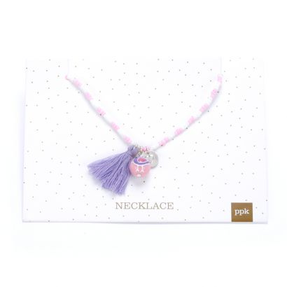 Peppercorn Kids Birdie Charm Tassel Necklace