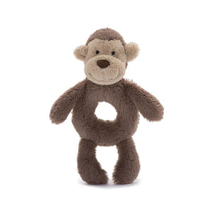 Little Jellycat Bashful Monkey Ring Rattle 6""