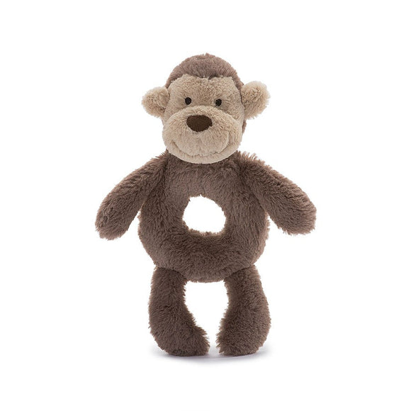 Little Jellycat Bashful Monkey Ring Rattle 6