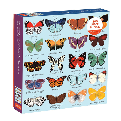 Mudpuppy 500 Piece Puzzle Butterflies of North America