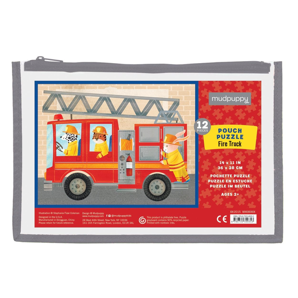 Mudpuppy Pouch Puzzle - Fire Truck
