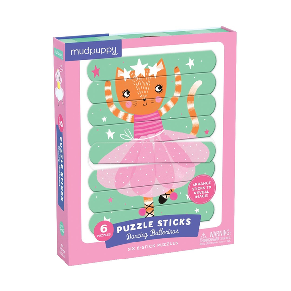 Mudpuppy Puzzle Sticks - Dancing Ballerinas