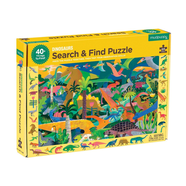 Mudpuppy Search and Find Puzzles - Dinosaurs
