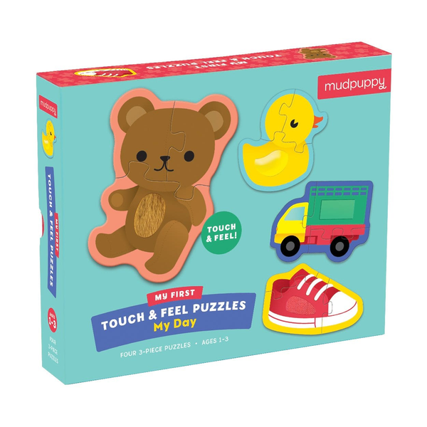 Mudpuppy Touch & Feel Puzzle - My Day
